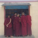 mysore bylakuppe monks shopping for books